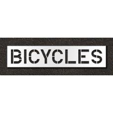 12 Inch - BICYCLES Stencil
