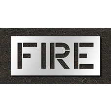 12 Inch - FIRE Stencil