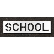 12 Inch - SCHOOL Stencil
