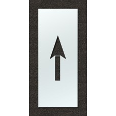 120 Inch - Airport FAA Arrow Stencil