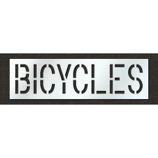 18 Inch - BICYCLES Stencil