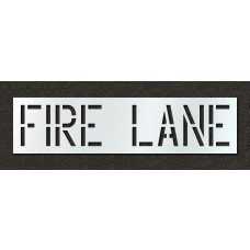 18 Inch - FIRE LANE Stencil