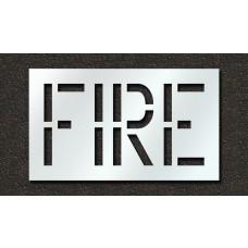 18 Inch - FIRE Stencil