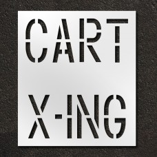 18 Inch - CART X-ING Stencil