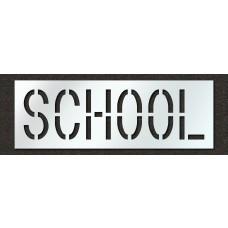 18 Inch - SCHOOL Stencil