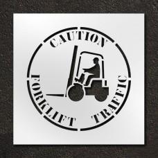 24 inch Caution Forklift Traffic Stencil