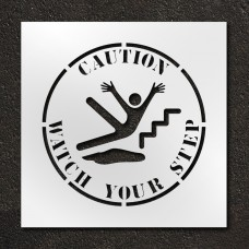 24 inch Caution Watch Your Step Stencil