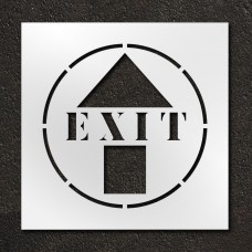 24 inch Exit with Arrow Stencil
