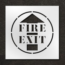 24 inch Fire Exit Stencil