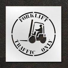 24 inch Forklift Traffic Only Stencil