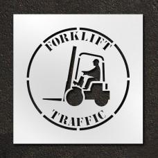 24 inch Forklift Traffic Stencil