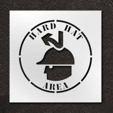 24 inch Hard Hat Area Stencil