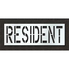 24 Inch - RESIDENT Stencil