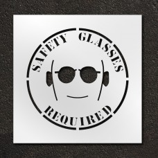 24 inch Safety Glasses Required Stencil