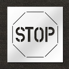 30 inch Stop Sign Pavement Stencil