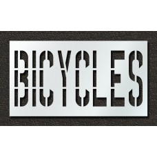 36 Inch - BICYCLES Stencil