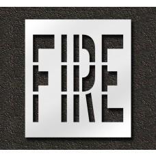 36 Inch - FIRE Stencil