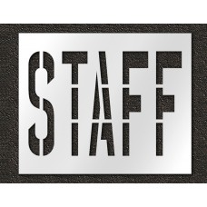 36 Inch - STAFF Stencil