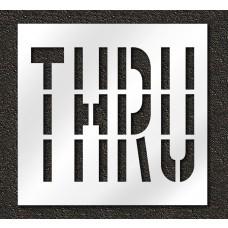 36 Inch - THRU Stencil