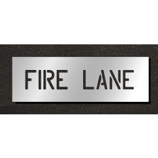 4 Inch - FIRE LANE Stencil