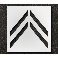41 Inch - Bike Lane Chevron Stencil