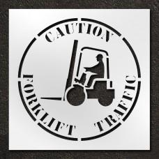 42 inch Caution Forklift Traffic Stencil
