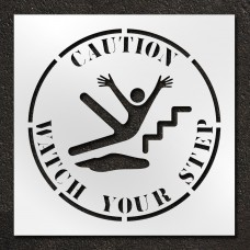 42 inch Caution Watch Your Step Stencil
