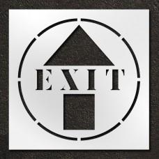 42 inch Exit with Arrow Stencil