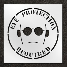 42 inch Eye Protection Required Stencil