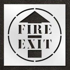 42 inch Fire Exit Stencil