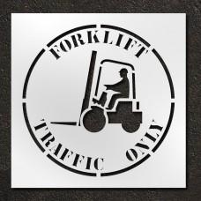 42 inch Forklift Traffic Only Stencil