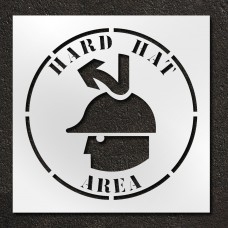 42 inch Hard Hat Area Stencil