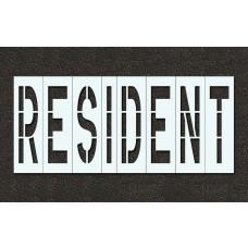 48 Inch - RESIDENT Stencil