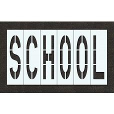 48 Inch - SCHOOL Stencil