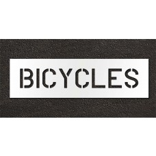 6 Inch - BICYCLES Stencil