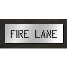 6 Inch - FIRE LANE Stencil