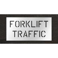6 inch Forklift Traffic Stencil