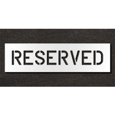6 Inch - RESERVED Stencil