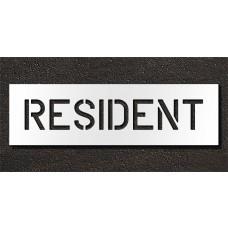 6 Inch - RESIDENT Stencil