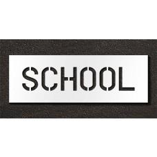 6 Inch - SCHOOL Stencil