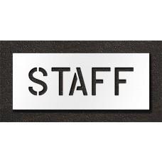 6 Inch - STAFF Stencil