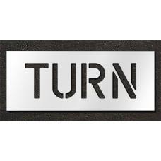 6 Inch - TURN Stencil