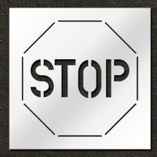 60 inch Stop Sign Pavement Stencil