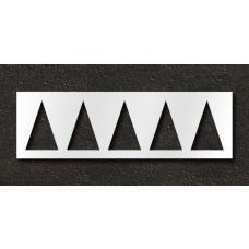 72 Inch - HWY Triangle Stencil