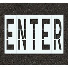 96 Inch - ENTER Stencil