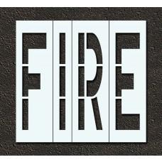 96 Inch - FIRE Stencil