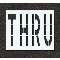 96 Inch - THRU Stencil
