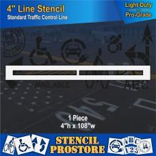 """Pavement Stencils - 4 inch - STRAIGHT LINE Stencil - 4"""" x 108"""""""