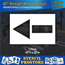 "Pavement Stencils -  42 in - STRAIGHT ARROW Stencil - 42"" x 20"""