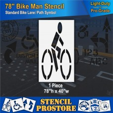 "Pavement Stencils -  78 inch - BIKE LANE or BICYCLE PATH Stencil - 78"" x 40"""